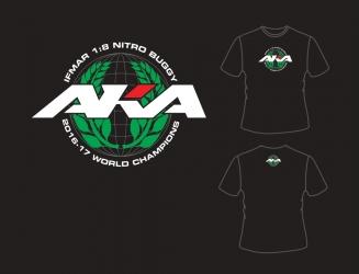 AKA IFMAR WORLD CHAMPIONS tričko černé (3XXL) - HANES TAGLESS