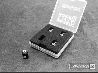 Označovací sada pro 1/10 karoserie - černá