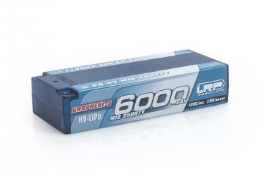 P5-HV Mid Shorty Stock Spec GRAPHENE-2 6000mAh Hardcase battery - 7.6V LiPo - 120C/60C