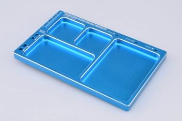 Hliníková odkládací miska (světle modrá)