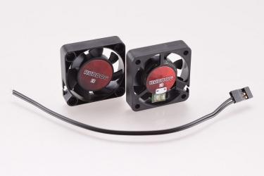 RUDDOG větráček 40x40mm s 170mm černým kabelem a JR konektorem