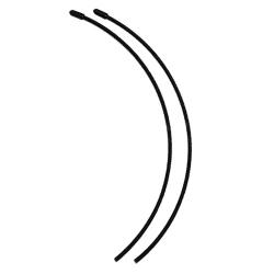 přijímačové antény včetně čepiček - černé (2 ks.)